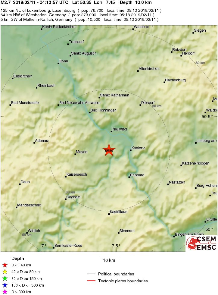 Erdbeben Koblenz