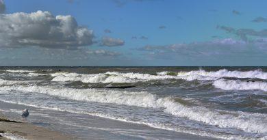 Schwere Sturmböen an der Ostsee