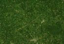 Tornadospur im Satellitenbild