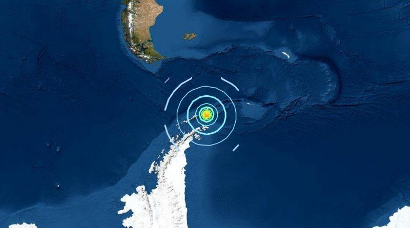 Schweres Erdbeben in Antarktisnähe